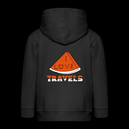 I LOVE TRAVELS FRUITS for life - Kids' Premium Zip Hoodie