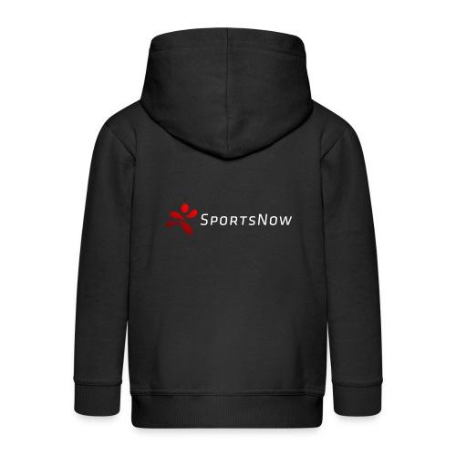 SportsNow-Logo mit weisser Schrift - Kinder Premium Kapuzenjacke