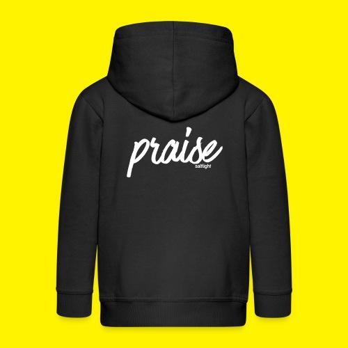 Praise (WHITE) - Kids' Premium Zip Hoodie