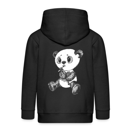 Panda Karhu valkoinen scribblesirii - Lasten premium hupparitakki
