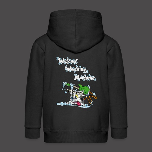 Wicked Washing Machine Cartoon and Logo - Kinderen Premium jas met capuchon