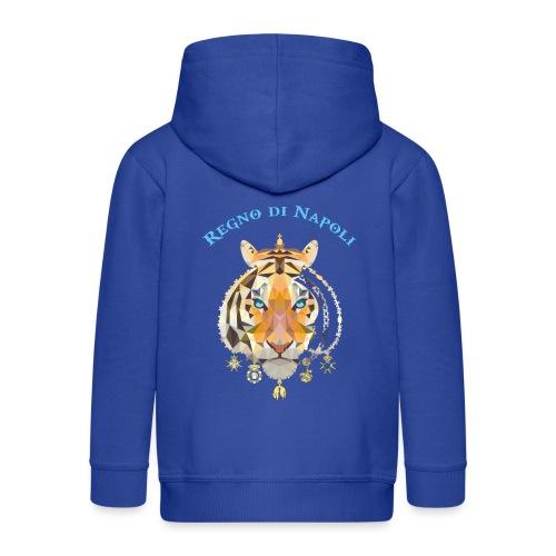 regno di napoli tigre - Felpa con zip Premium per bambini