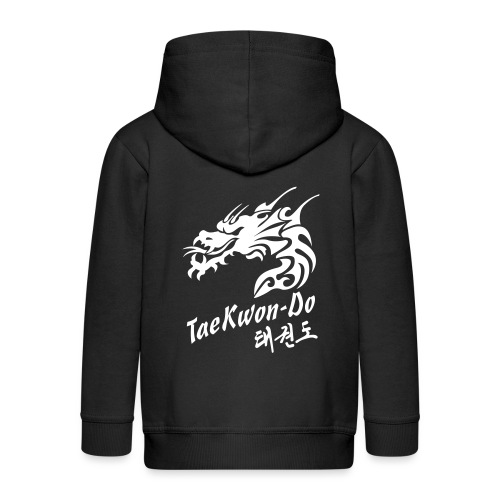 Taekwondo Dragon - Kids' Premium Zip Hoodie
