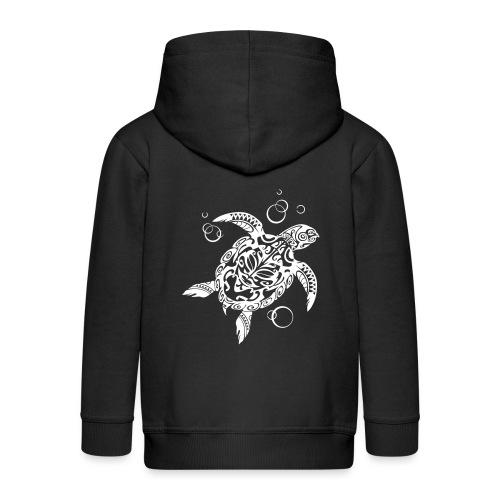 Watchful Turtle - Kids' Premium Zip Hoodie