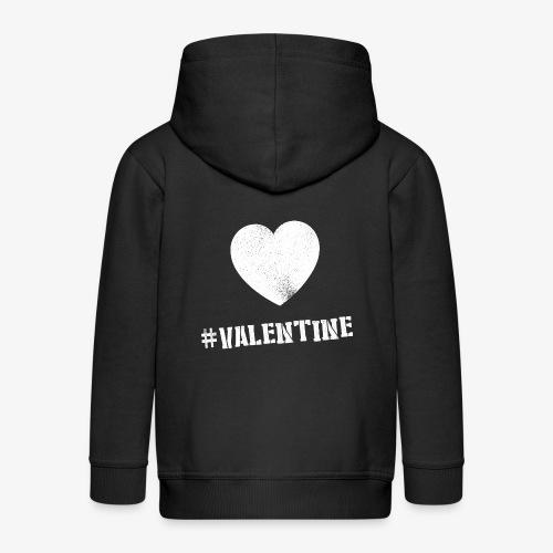 Hashtag Valentine Woman - Kinderen Premium jas met capuchon