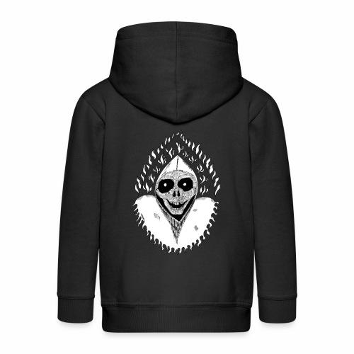 Grimp reaper blank text black & white - Veste à capuche Premium Enfant