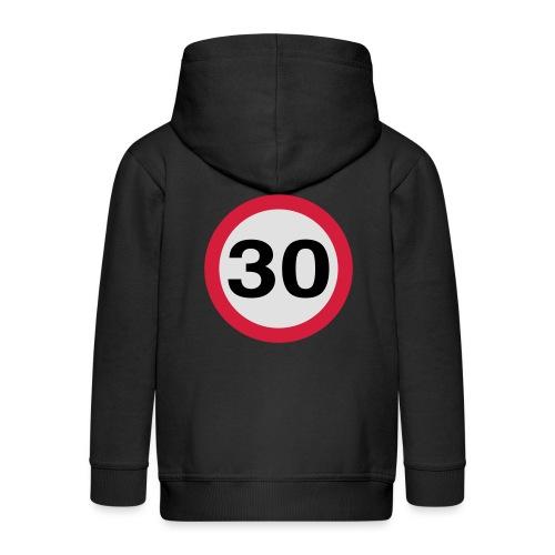 30mph Speed Limit Vector - choose design colours - Kids' Premium Hooded Jacket
