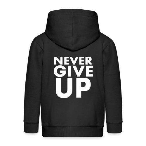 Nigdy nie poddawaj się - Rozpinana bluza dziecięca z kapturem Premium