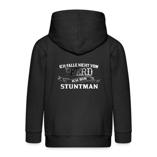 Ich falle nicht vom Pferd ich bin Stuntman Reiten - Kinder Premium Kapuzenjacke
