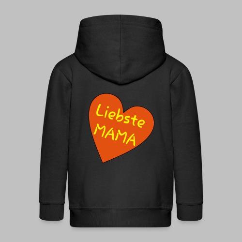 Liebste Mama - Auf Herz ♥ - Kinder Premium Kapuzenjacke