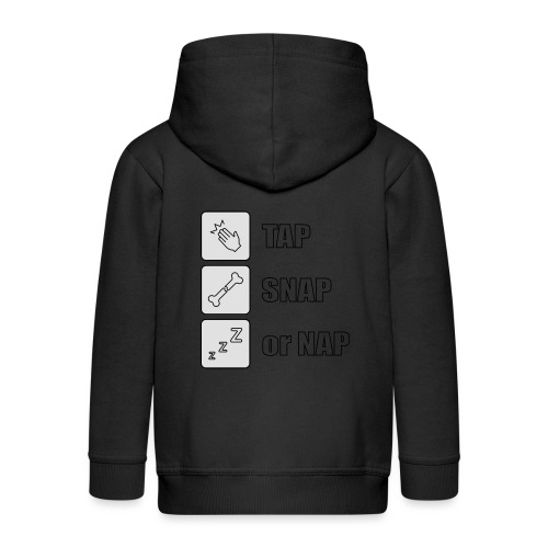 tap snap or nap - Rozpinana bluza dziecięca z kapturem Premium