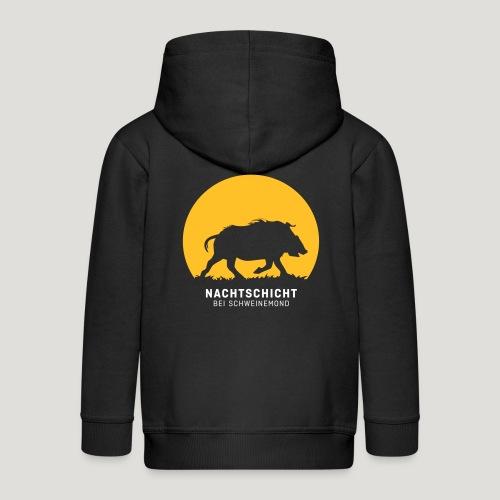 Nachtschicht bei Schweinemond! Jäger Shirt Jaeger - Kinder Premium Kapuzenjacke