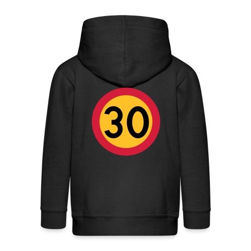 30 kph Road Sign Vector Design - Kids' Premium Hooded Jacket