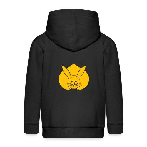 Usagi kamon japanese rabbit yellow - Kids' Premium Hooded Jacket