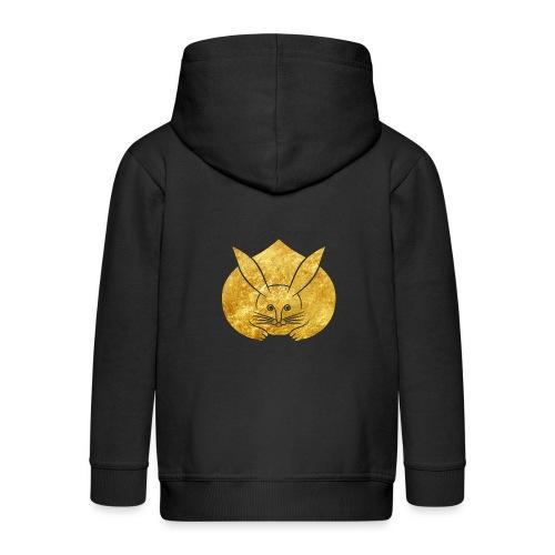 Usagi kamon japanese rabbit gold - Kids' Premium Hooded Jacket