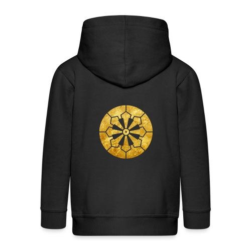 Sanja Matsuri Komagata mon gold - Kids' Premium Hooded Jacket