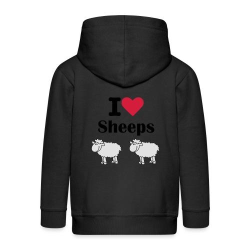 I-love-sheeps - Veste à capuche Premium Enfant
