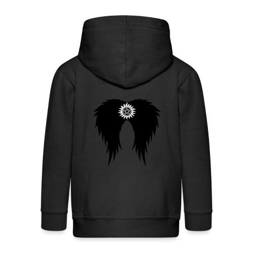 Supernatural wings (vector) Hoodies & Sweatshirts - Kids' Premium Hooded Jacket