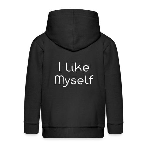 I Like Myself - Felpa con zip Premium per bambini