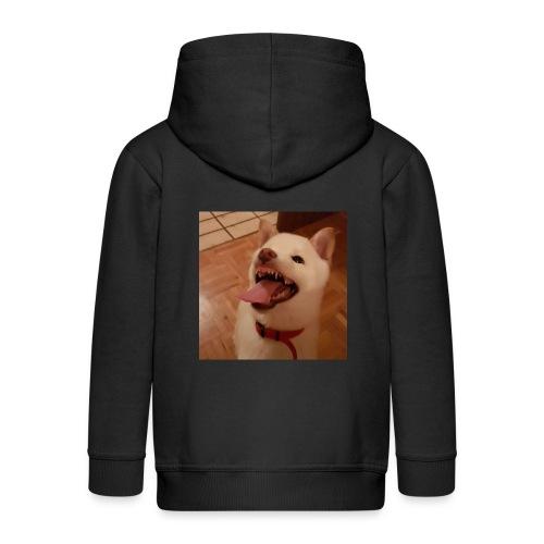 Mein Hund xD - Kinder Premium Kapuzenjacke