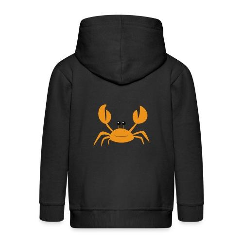 crab - Felpa con zip Premium per bambini