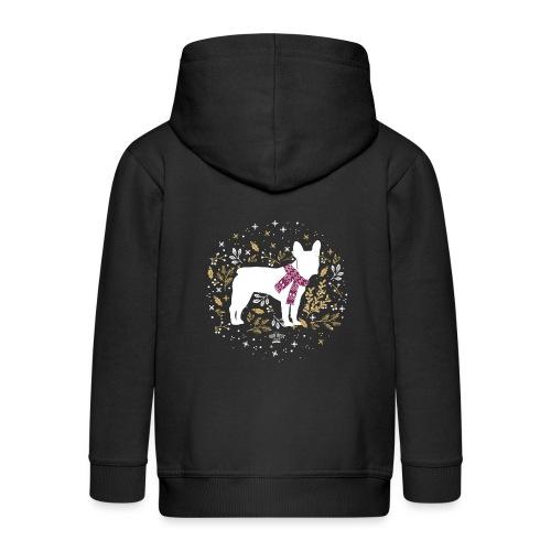 French Bulldog Winter - Kinder Premium Kapuzenjacke