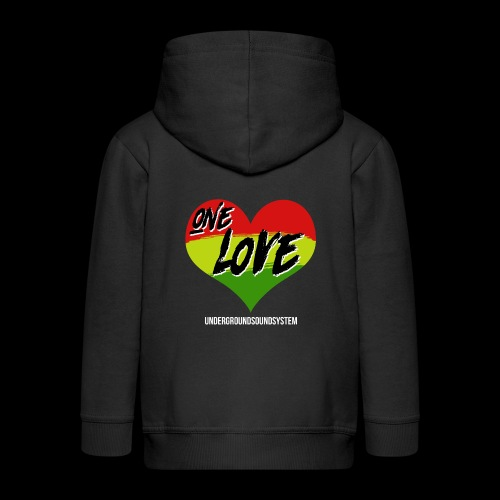 ONE LOVE - HEART - Kinder Premium Kapuzenjacke