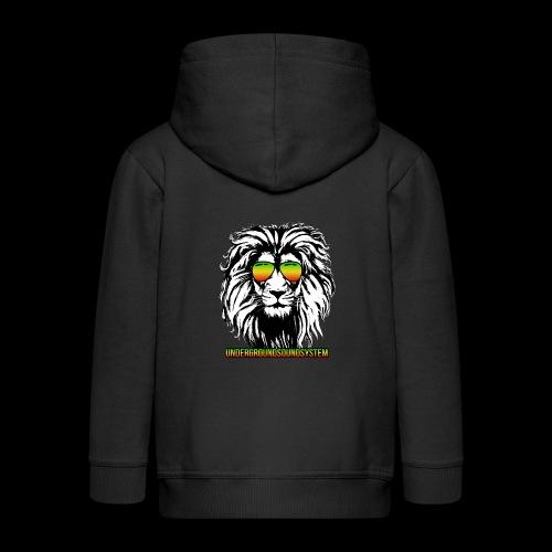 RASTA REGGAE LION - Kinder Premium Kapuzenjacke
