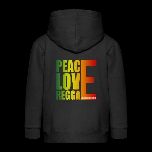 PEACE LOVE REGGAE - Kinder Premium Kapuzenjacke