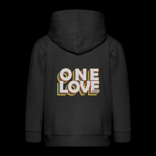 ONE LOVE - Kinder Premium Kapuzenjacke