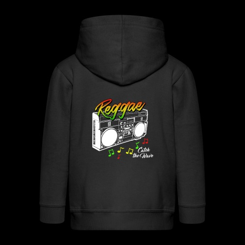Reggae - Catch the Wave - Kinder Premium Kapuzenjacke