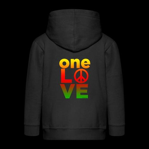 ONE LOVE PEACE ICON - Kinder Premium Kapuzenjacke