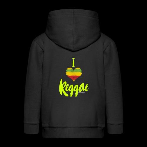 I LOVE REGGAE - Kinder Premium Kapuzenjacke