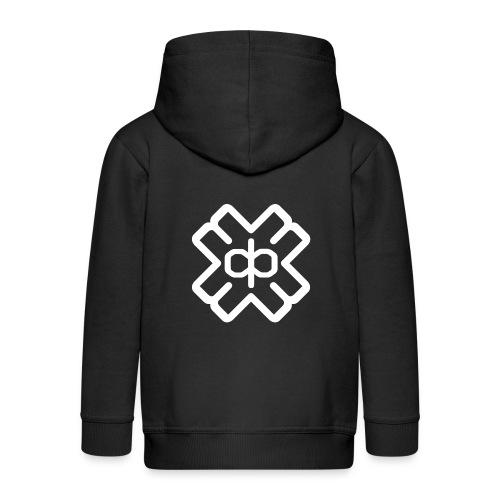 d3eplogowhite - Kids' Premium Hooded Jacket