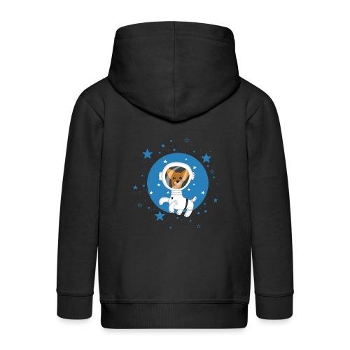 Kleiner Hund im Weltall - Kinder Premium Kapuzenjacke