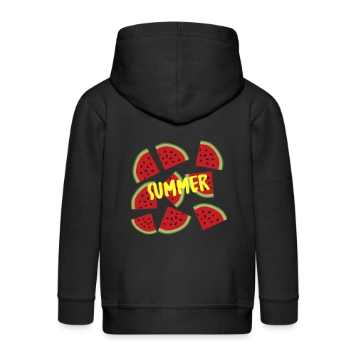 Sommer Sonne Wassermelone - Kinder Premium Kapuzenjacke