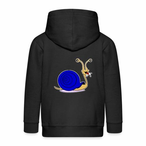 Escargot rigolo blue version - Veste à capuche Premium Enfant