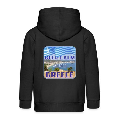 KEEP CALM and go to GREECE - Griechenland - Ellada - Kinder Premium Kapuzenjacke