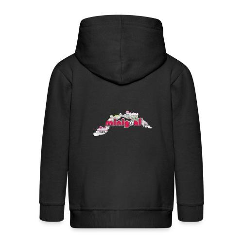 Maglietta Donna Liguria - Felpa con zip Premium per bambini