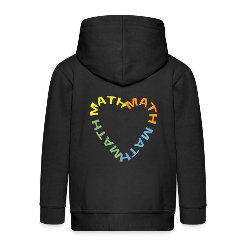 Math Text Heart Light - Kids' Premium Zip Hoodie