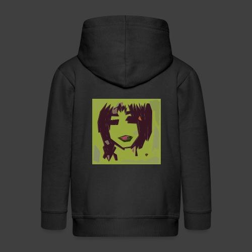 Green brown girl - Kids' Premium Hooded Jacket