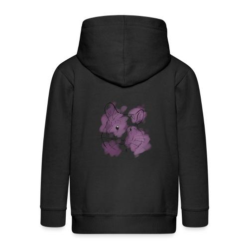 Violet splash chinchilla - Lasten premium hupparitakki
