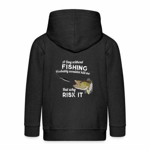Zanderattacke Fishyworm Angel Fisch Zander A Day - Kinder Premium Kapuzenjacke