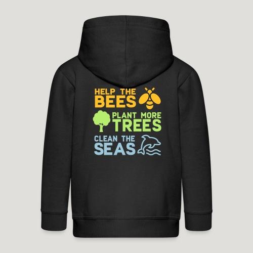 Help the Bees Plant More Trees Hilf den Bienen - Kinder Premium Kapuzenjacke