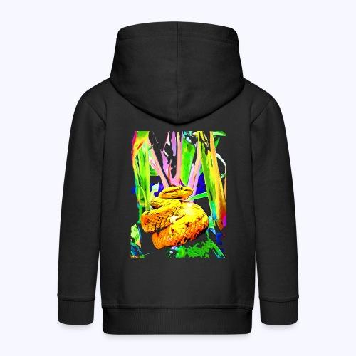 neon snake - Kinder Premium Kapuzenjacke