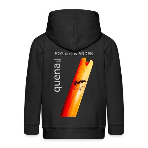 De los ANDES - Quena II - Chaqueta con capucha premium niño