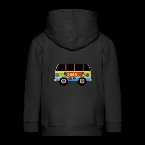 GROOVY BUS - Kids' Premium Zip Hoodie