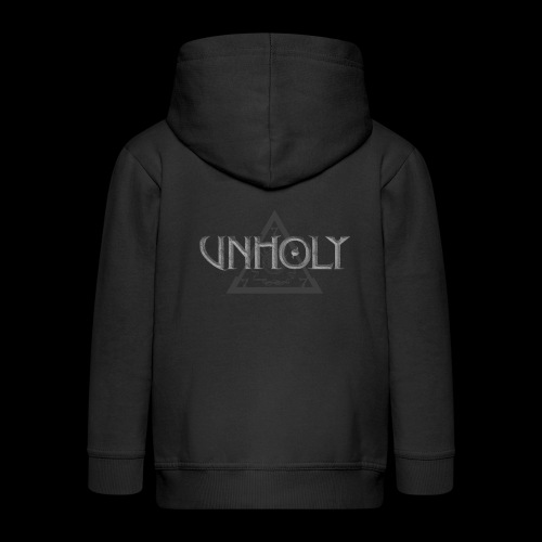 unholy symbollogo gray - Kids' Premium Zip Hoodie