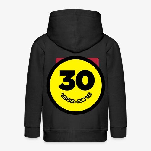 30 Jaar Belgian New Beat Smiley - Kinderen Premium jas met capuchon
