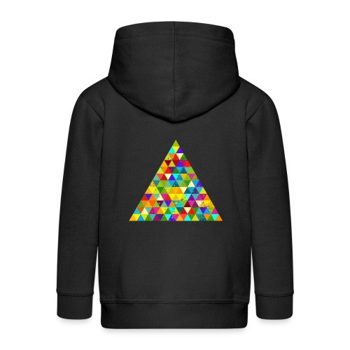 Dreieck Geek Hipster Ornament Grunge Regenbogen - Kids' Premium Zip Hoodie